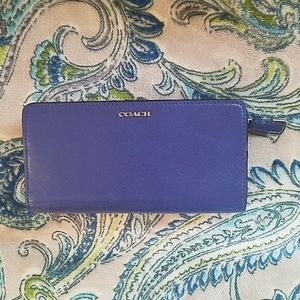 Royal Blue Coach Wallet